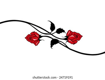 red vector roses