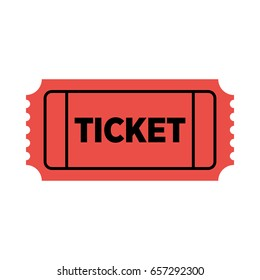 Red vector ticket icon.