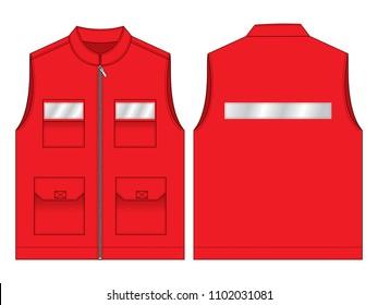 Red Vest Design : Reflective tape