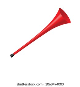 Red Vuvuzela isolated on a white background
