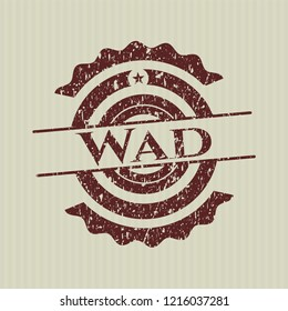 Red Wad distressed rubber grunge stamp