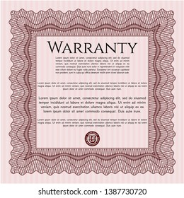 Red Warranty. Modern design. Customizable, Easy to edit and change colors. Easy to print.