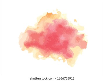 red water color paint on white background