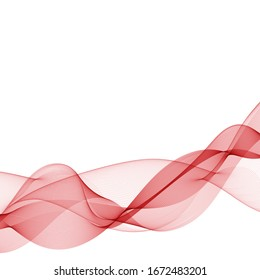 red wave. abstract vector graphics