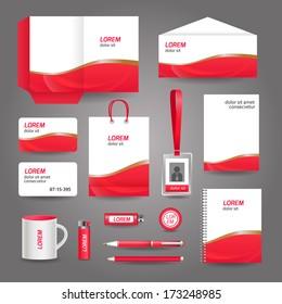 stationary corporate brand identity mockup set stock vector royalty