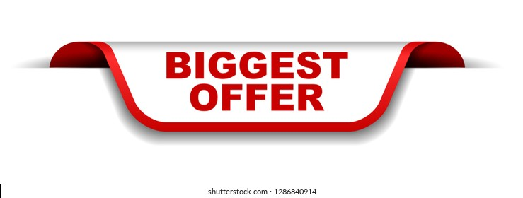 red and white banner biggest offer