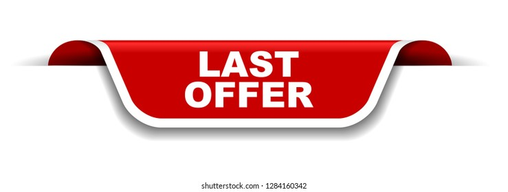 red and white banner last offer