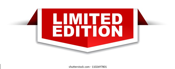 red and white banner limited edition