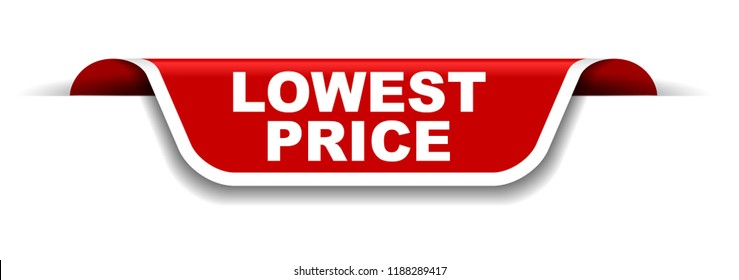 red and white banner lowest price