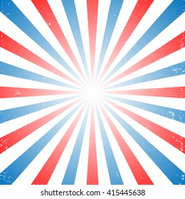 Red white and blue stripes, Sunburst, Star Burst, Memorial day concept