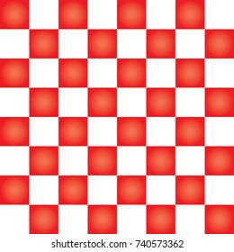 Red and white checkerboard seamless pattern.