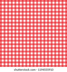 Red and white checkered tablecloth banner.Texture for : plaid, tablecloths, clothes, shirts, dresses, paper, bedding, blankets, quilts and other textile products. Vector illustration.