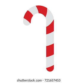 A red and white christmas candy cane