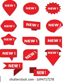 Red and white colour new logo designs in white colour background