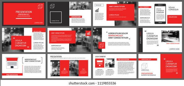 Red and white element for slide infographic on background. Presentation template. Use for business annual report, flyer, corporate marketing, leaflet, advertising, brochure, modern style.