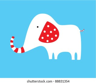 red and white elephant