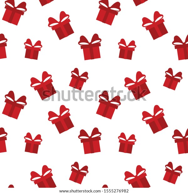 Red White Gift Box Background Merry Stock Vector Royalty Free 1555276982
