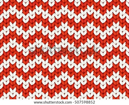 d08700eb1 Red White Knit Zigzag Christmas Knitted Stock Vector (Royalty Free ...