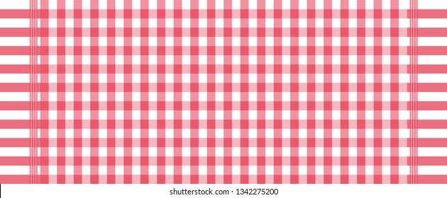 red and white loincloth vector and illustration, wallpaper ,tablecloth, Scottish plaid.Abstract background.