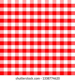 Red and white plaids seamless pattern. Checkered seamless vector pattern. Great for backgrounds, fabric, packaging, and all kind of paper projects. Easter background.