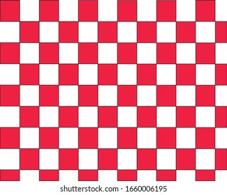 Red White Rectangle Background vector.