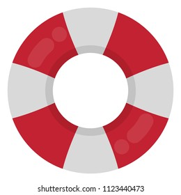 Red and White Ring Float - Red and white inflatable ring float isolated on white background