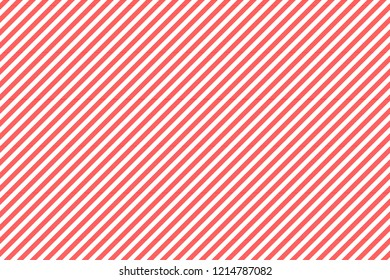 Red white striped fabric texture seamless pattern. Vector illustration.
