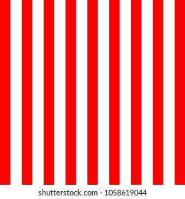 Red and white vertical lines background. Vector.