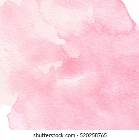 Red white watercolor wet brush paint liquid paper texture vector card for text design, label, tag. Abstract aquarelle warm color hand drawn vivid soft background element for wallpaper, print, blank