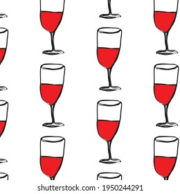 red wine hand drawn  pattern background   vector eps.10