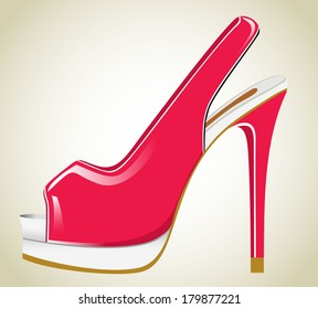 Red Womens Shoe