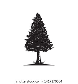Red wood tree vector illustration