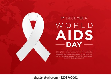 Red World AIDS Day Banner