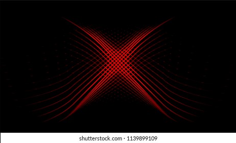 red x  light and line elements abstract vector background