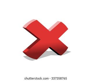 "Red ""x"" shape, ""x"" letter, cross"