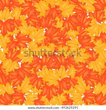 red yellow autumn leaves pattern background stock vector royalty