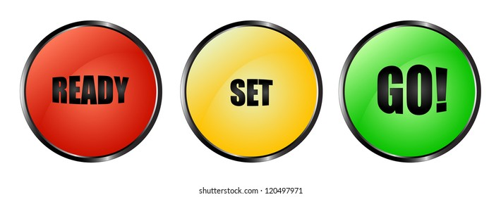Red, yellow and green buttons ready set go!