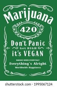 Red, yellow and green and weed Reggae Style, Reggae Vector design .Happy Rasta Marijuana Happiness - Vector