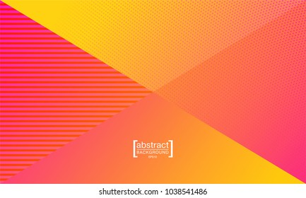 Red and Yellow modern business leaflet, flyer, cover template. Abstract diagonal background with a halfton effect, a comic background, a bright backdrop.