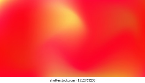 Red Yellow Pink Tropical Gradient Background. Elegant Colorful Vibrant Defocused Horizontal Banner. Pearlescent Noble Vector Color Overlay. Dreamy Neon Bright Trendy Wallpaper. 80s Glam Gradient Paper