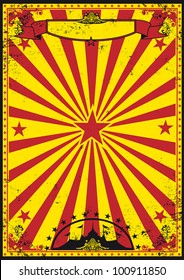 Red and yellow retro circus. A retro circus background for your festivities