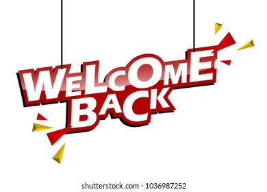 red and yellow tag welcome back