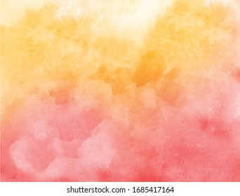 Red and yellow watercolor texture background