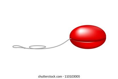 Red yo yo