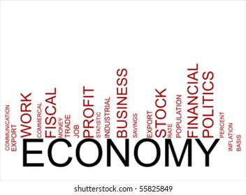 red-black  economy text barcode, vector