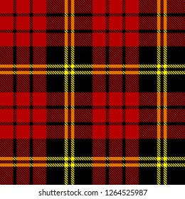 Red,black and yellow tartan plaid Scottish seamless pattern.New year and Christmas concept.Texture from tartan, plaid, tablecloths, clothes, shirts,dresses, paper, bedding, blankets and other textile.