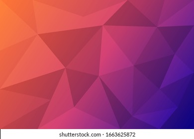Red-blue geometric rumpled triangular low poly origami style gradient illustration graphic background. Vector polygonal design for your business.