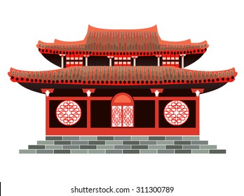 Red,Chinese, holiday, home, Asian, house