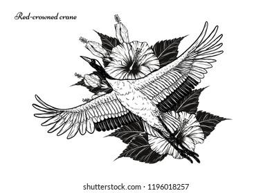 Crane Tattoo Images Stock Photos Vectors Shutterstock