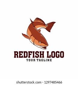 Redfish Fishing logo tamplate